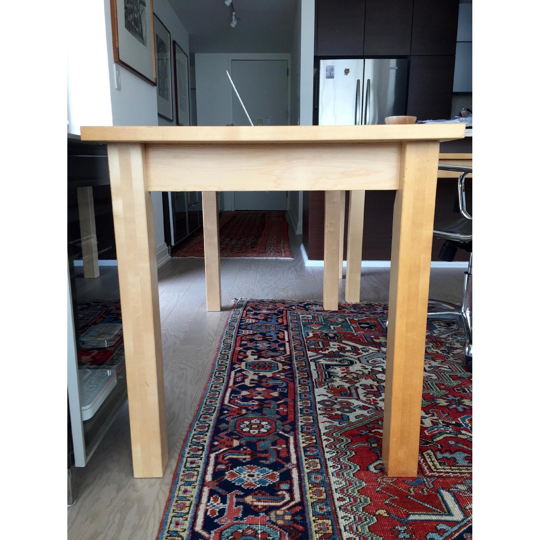 Crate & Barrel Wood L-Shaped Desk - image-2