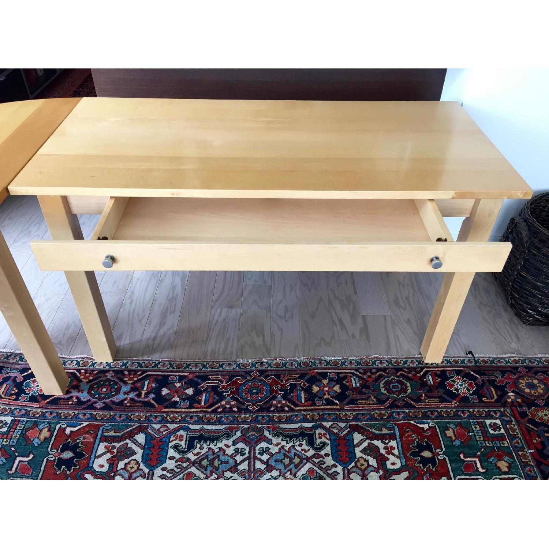 Crate & Barrel Wood L-Shaped Desk - image-4
