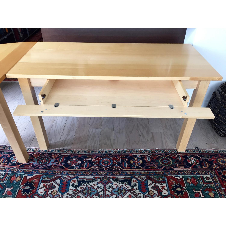 Crate & Barrel Wood L-Shaped Desk - image-5