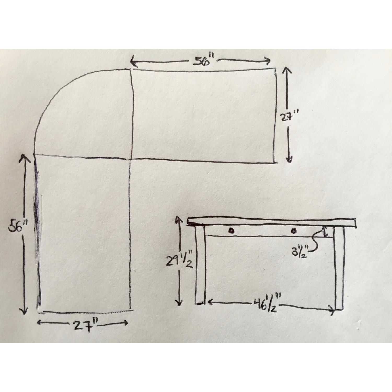 Crate & Barrel Wood L-Shaped Desk - image-7