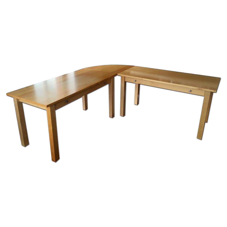 Crate & Barrel Wood L-Shaped Desk - image-0