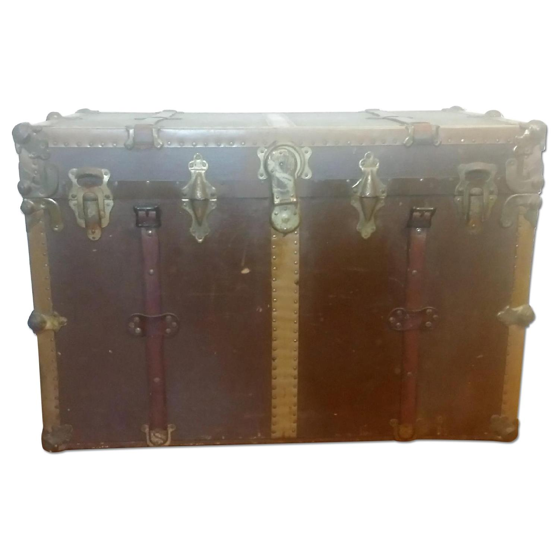 Antique Steamer Trunk - image-0