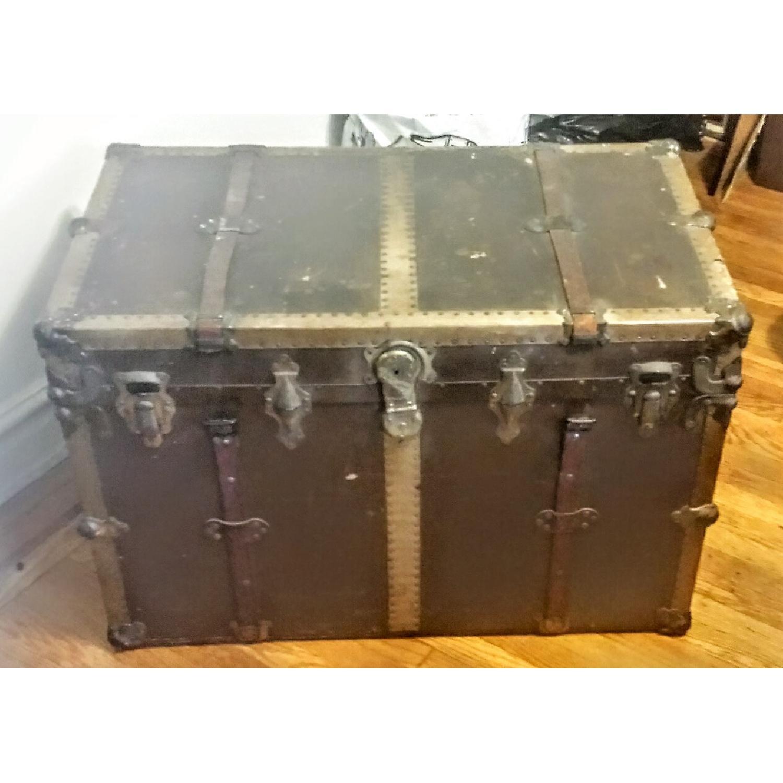 Antique Steamer Trunk - image-1
