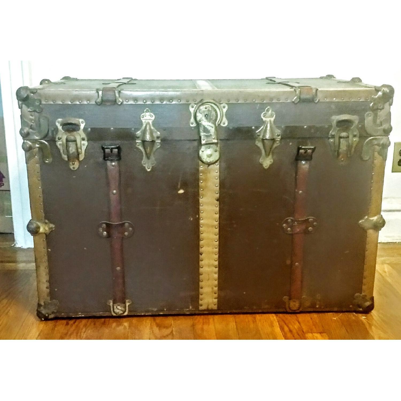 Antique Steamer Trunk - image-2