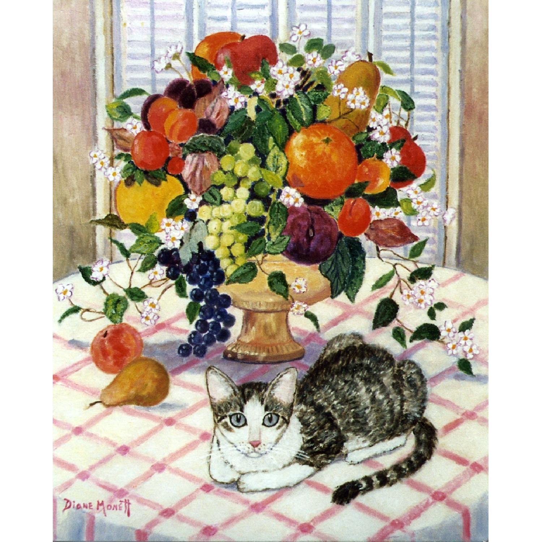 Diane Monett Oil-On-Canvas Original Paintings of Two Kittens - image-2