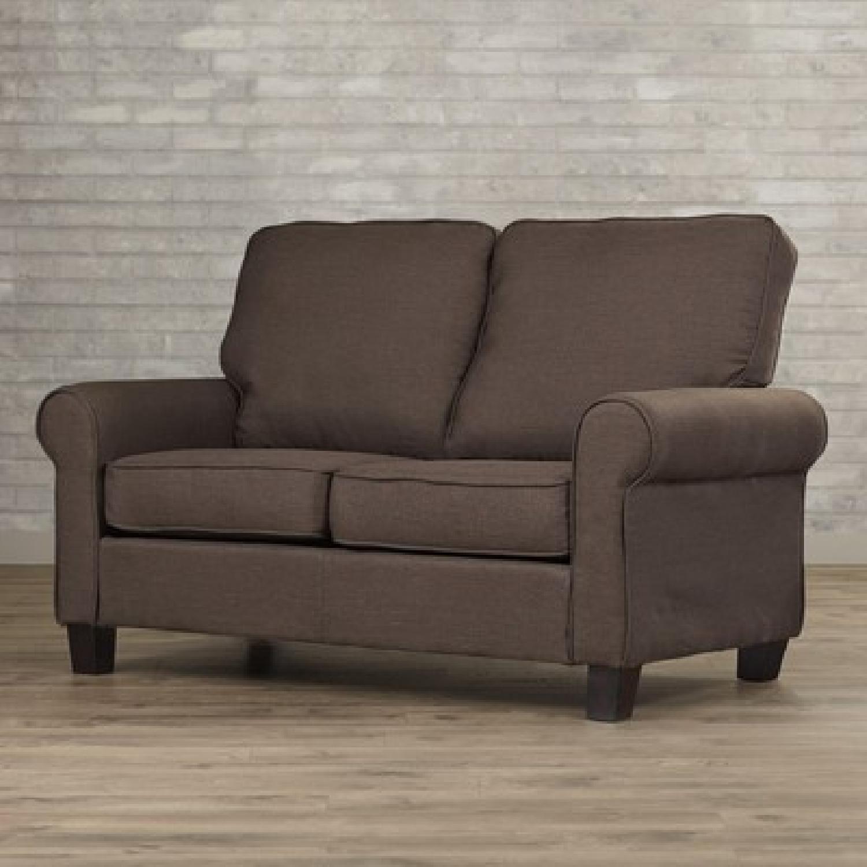 Chocolate Buxton 2-Seat Loveseat - image-2