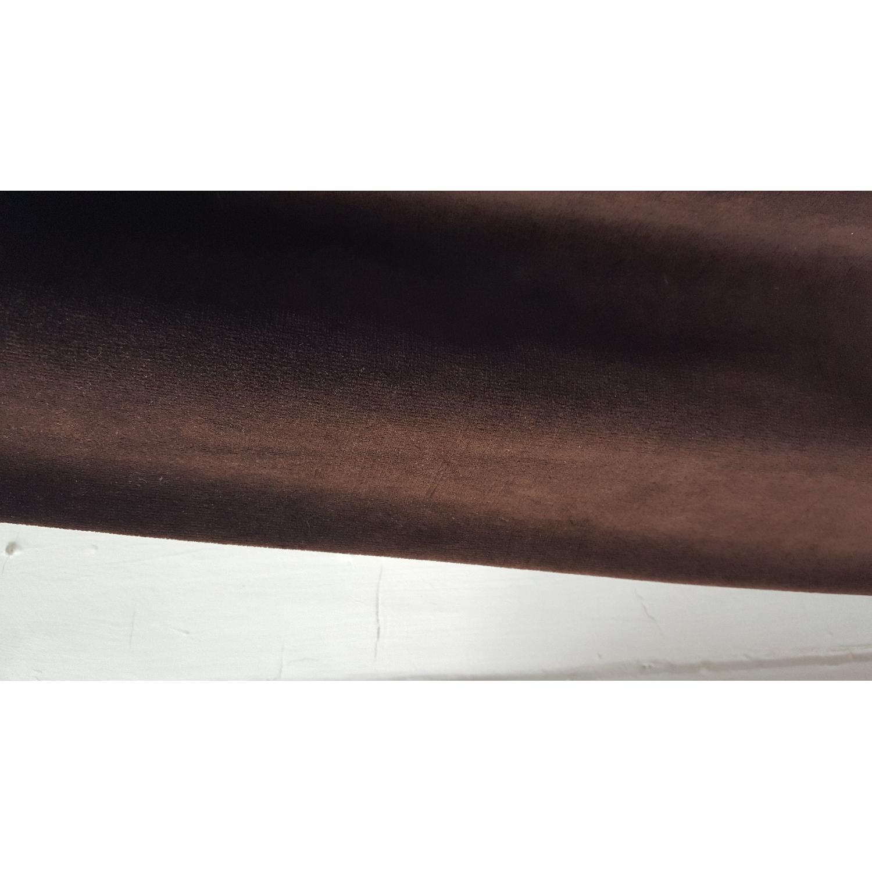Restoration Hardware Vintage Velvet Drapery in Coffee - image-4