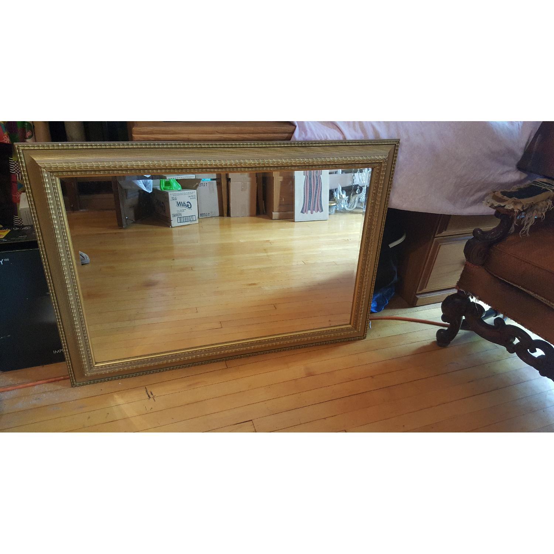 Large Gold Framed Mirror - image-1