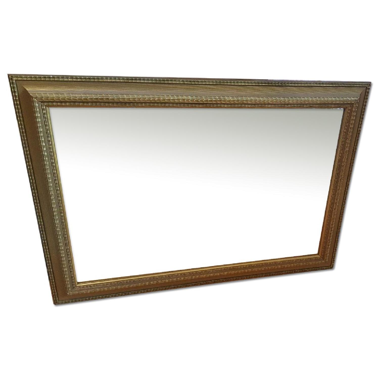 Large Gold Framed Mirror - image-0