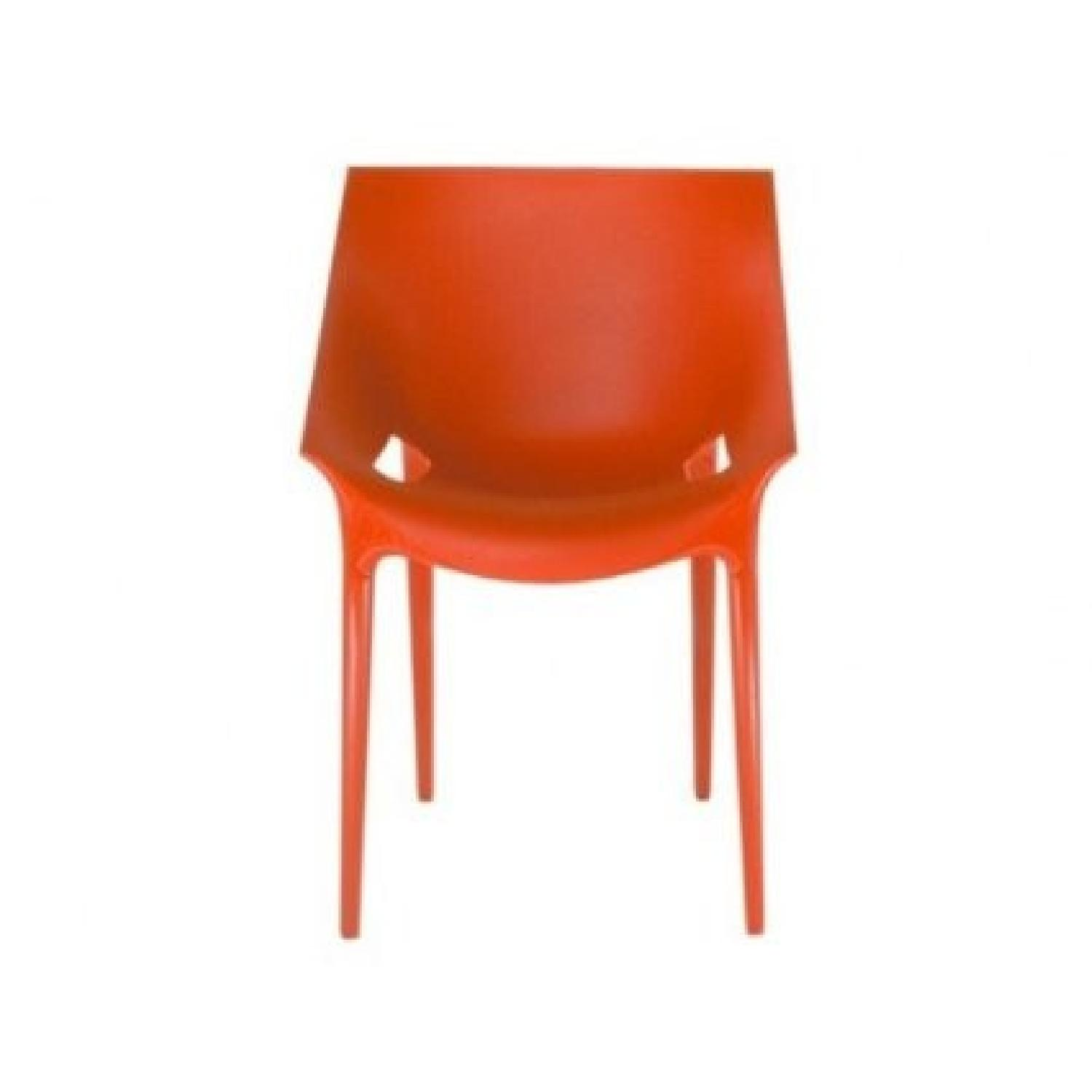 Kartell Dr. Yes Chair by Philippe Starck in Matte Orange Red - image-1