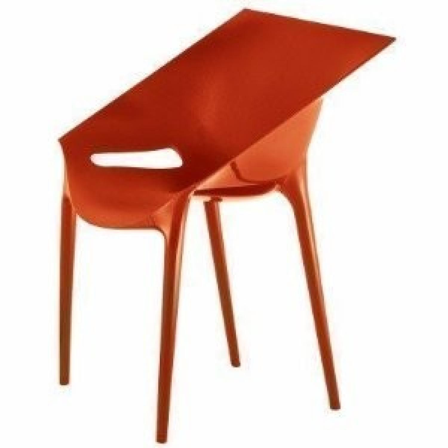Kartell Dr. Yes Chair by Philippe Starck in Matte Orange Red - image-2