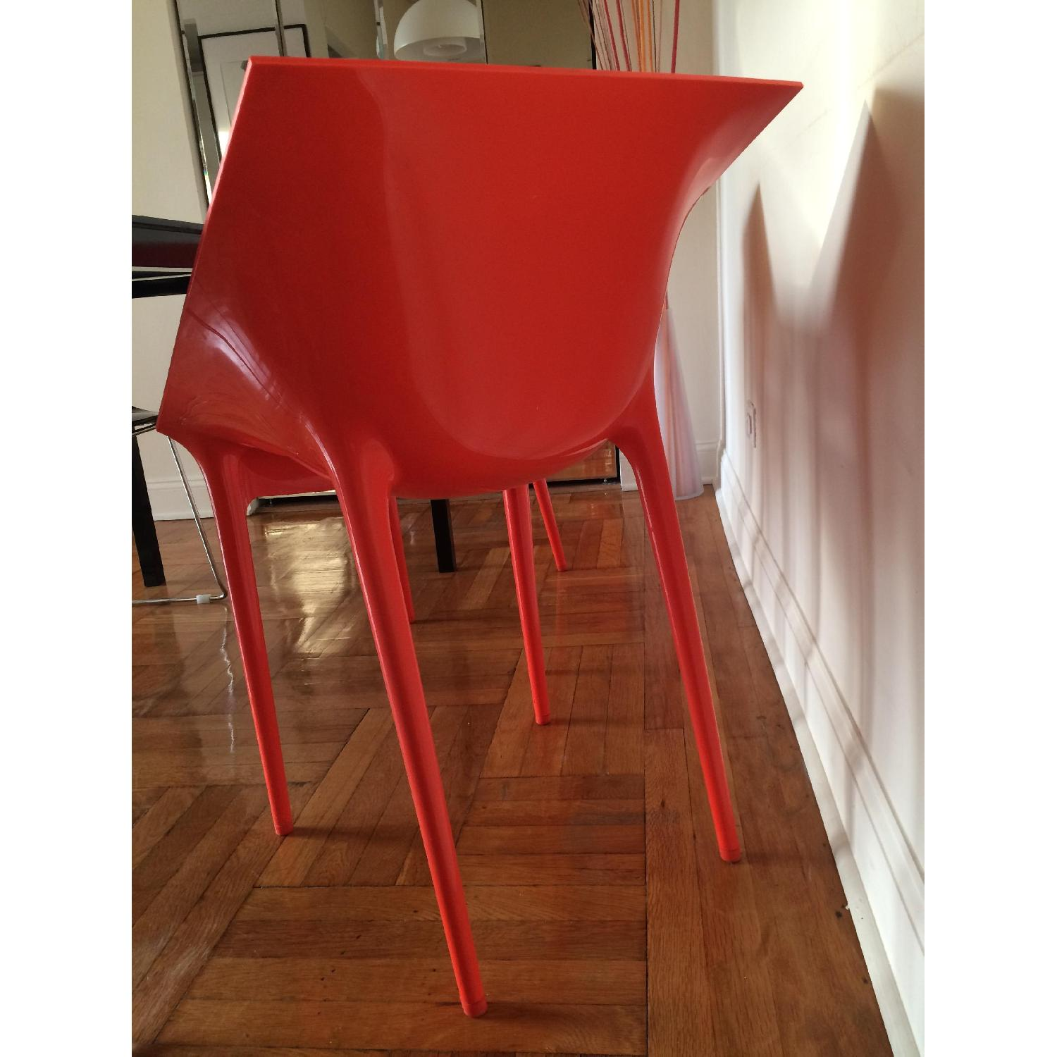 Kartell Dr. Yes Chair by Philippe Starck in Matte Orange Red - image-3