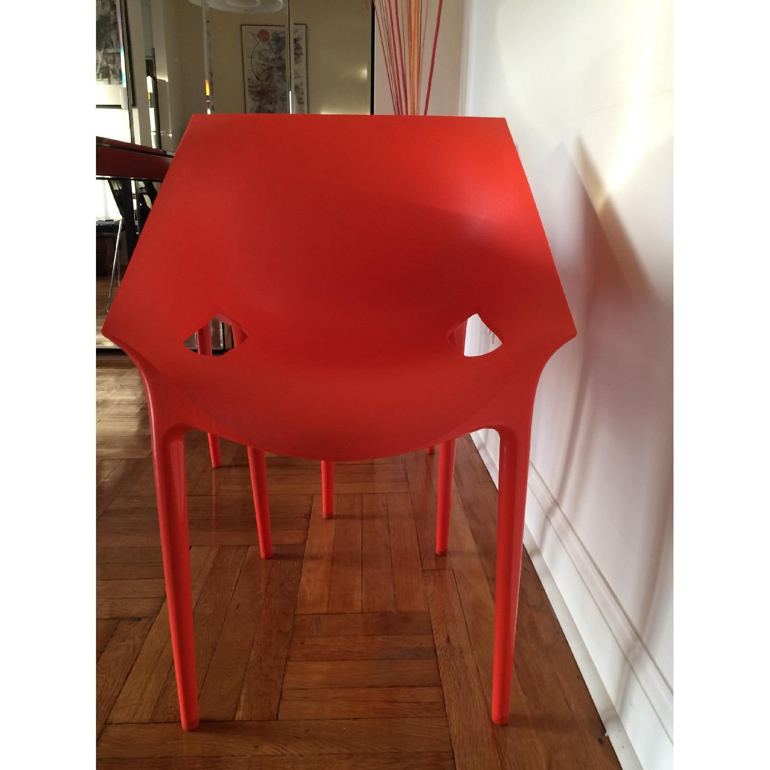 Kartell Dr. Yes Chair by Philippe Starck in Matte Orange Red - image-4