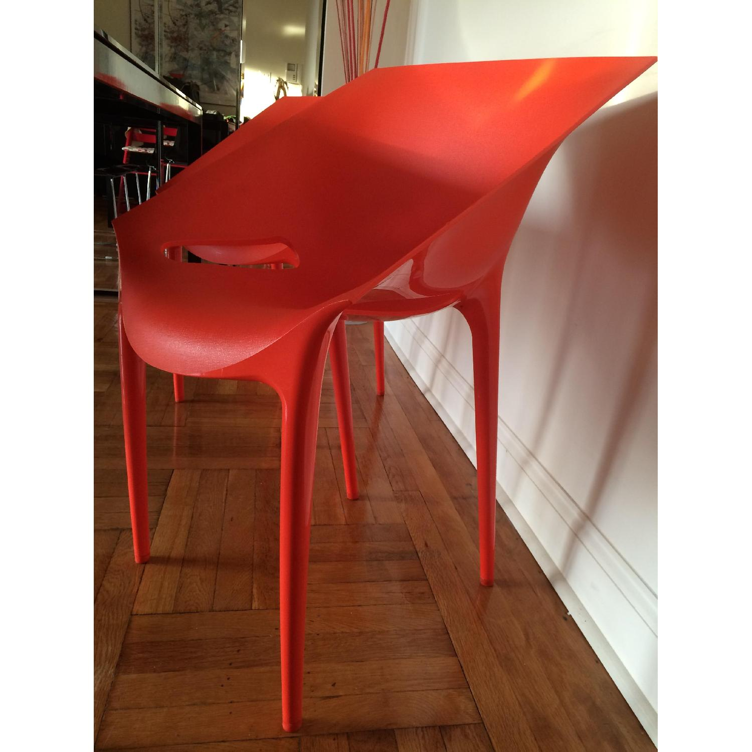 Kartell Dr. Yes Chair by Philippe Starck in Matte Orange Red - image-5