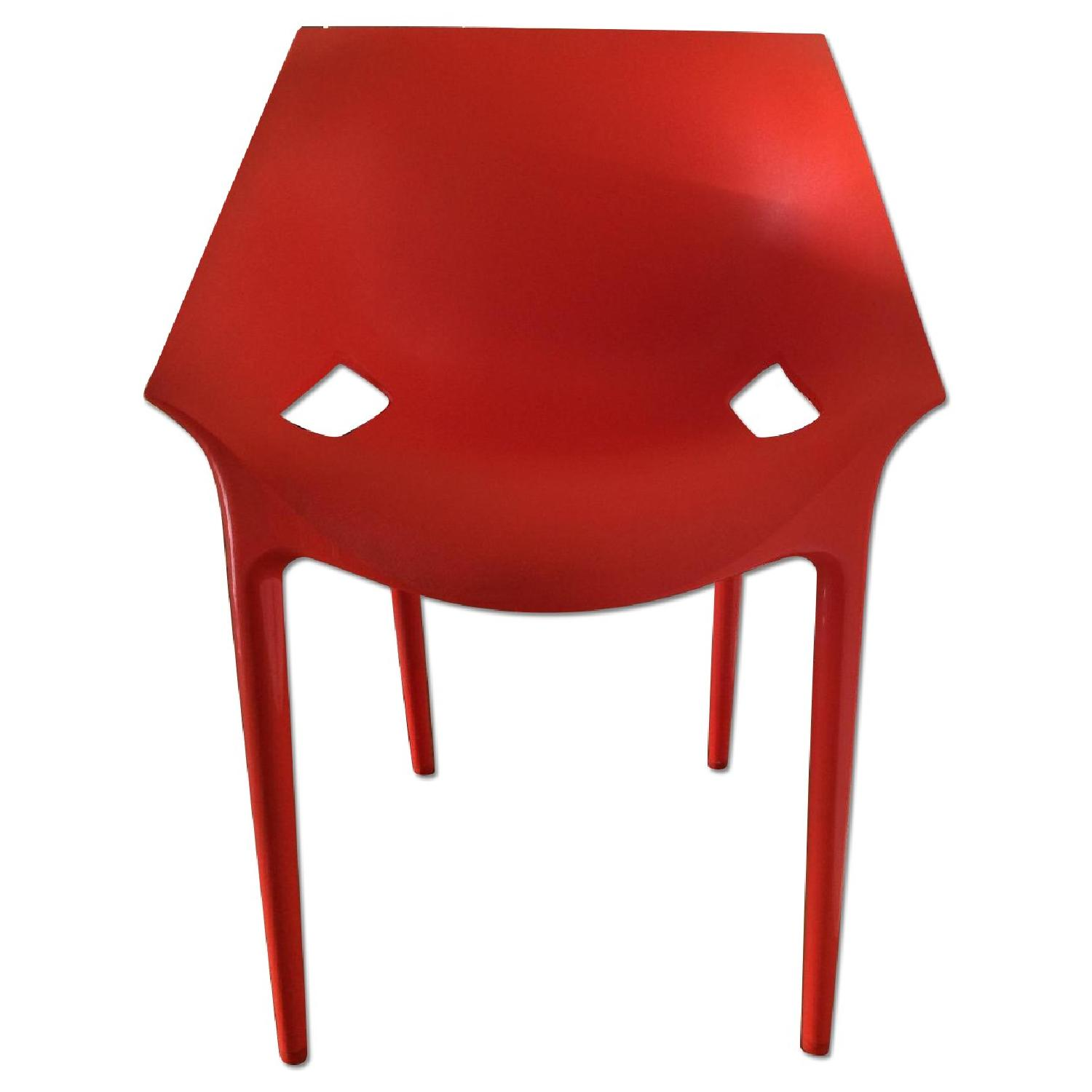 Kartell Dr. Yes Chair by Philippe Starck in Matte Orange Red - image-0
