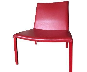 Habitat Red Leather Livingroom Chair