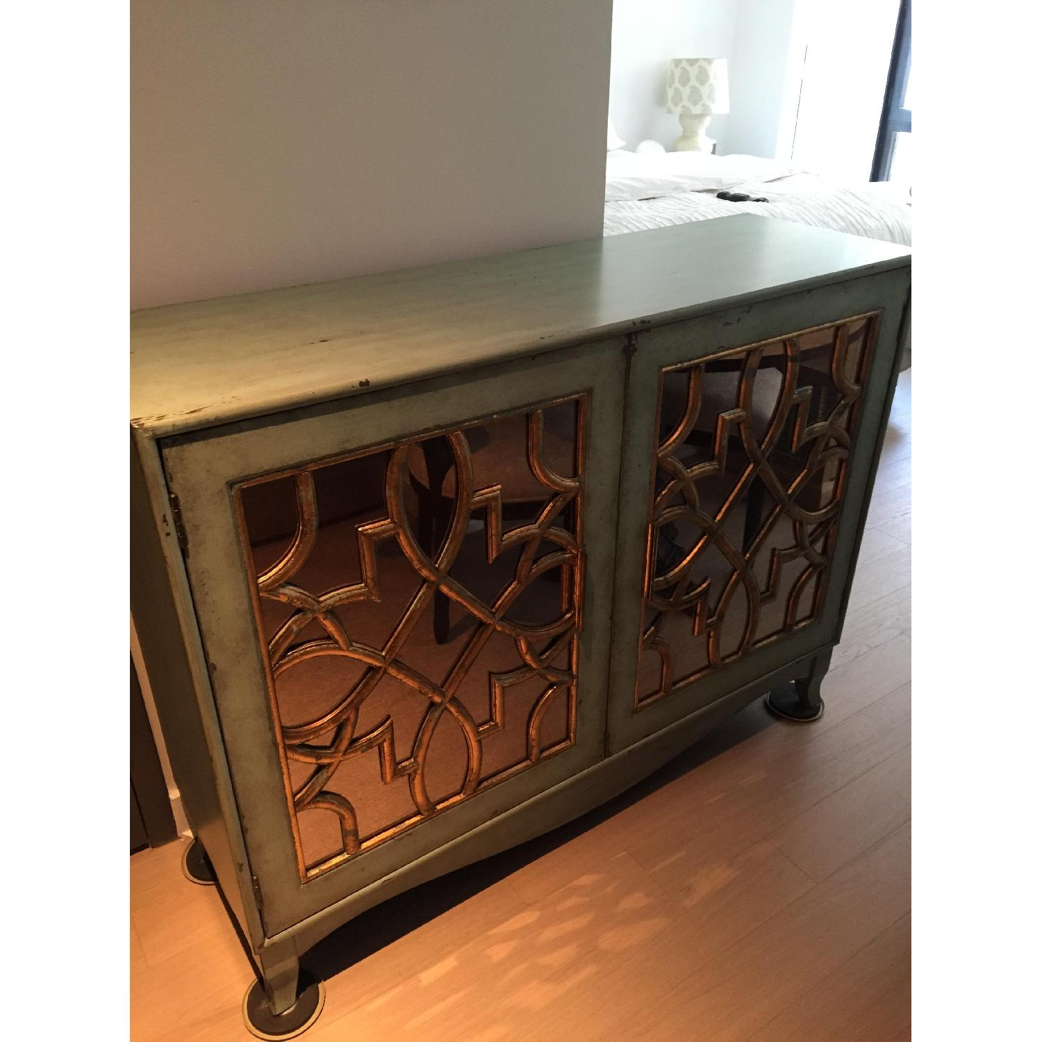 Z Gallerie Marie Mirrored Armoire - image-1