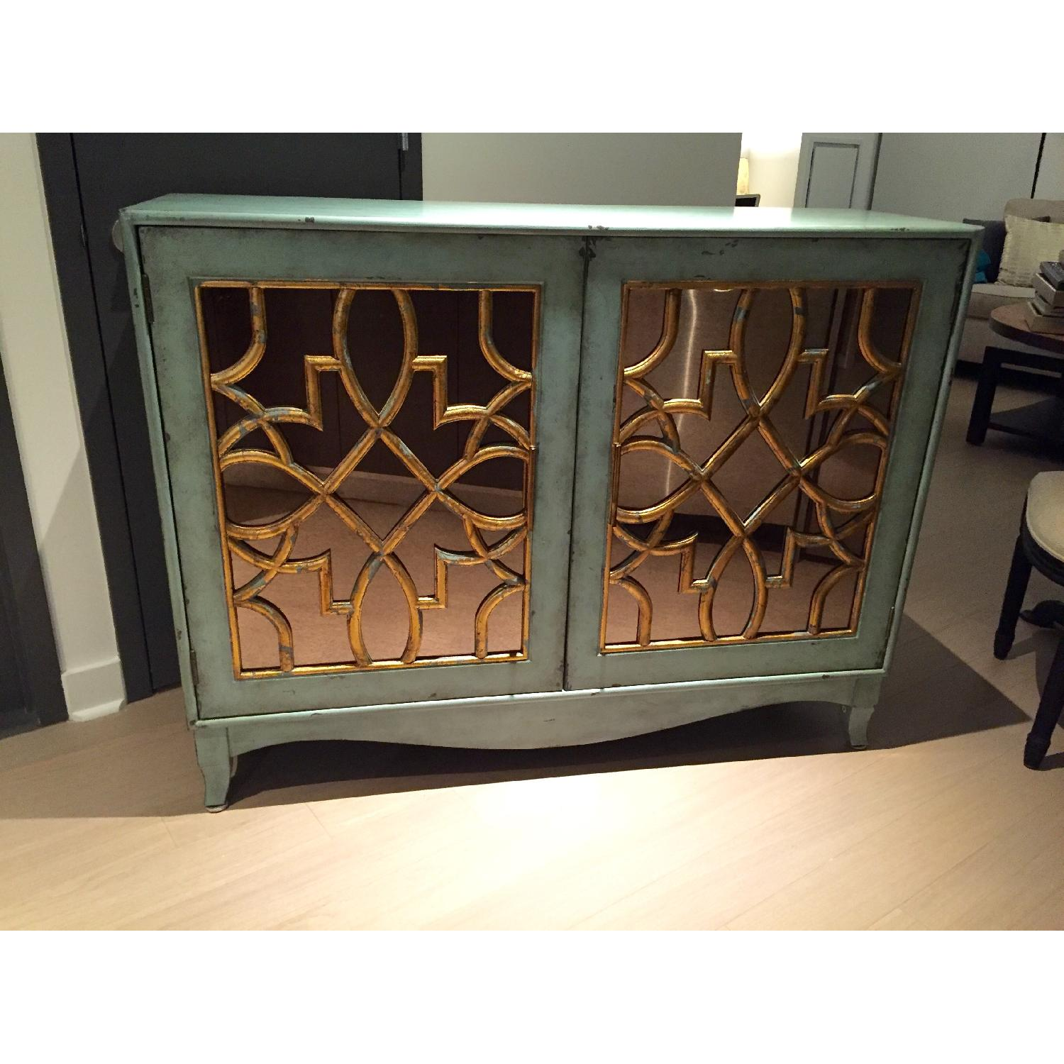 Z Gallerie Marie Mirrored Armoire - image-5
