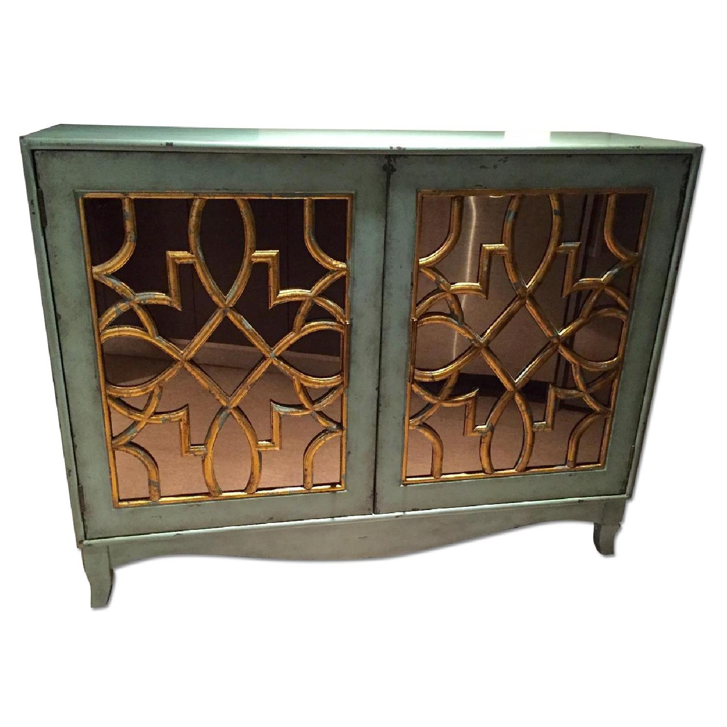 Z Gallerie Marie Mirrored Armoire - image-0