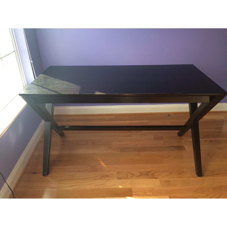 Crate & Barrel Spotlight Ebony Desk - image-1