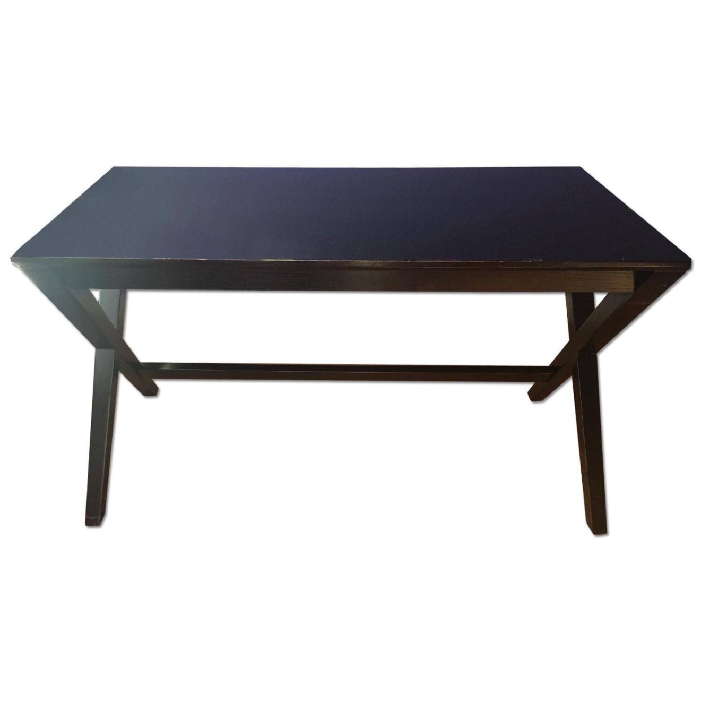 Crate & Barrel Spotlight Ebony Desk - image-0