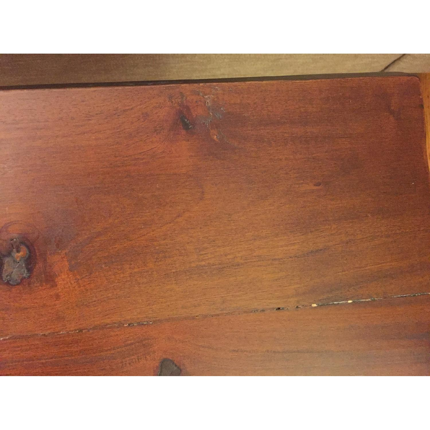 Natural Wood Table/Bench w/ Hairpin Legs - image-7