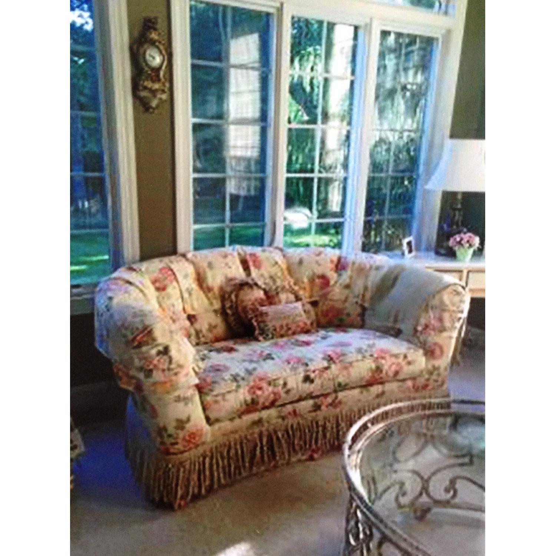 Ethan Allen Floral Upholstered Love Seats - image-1