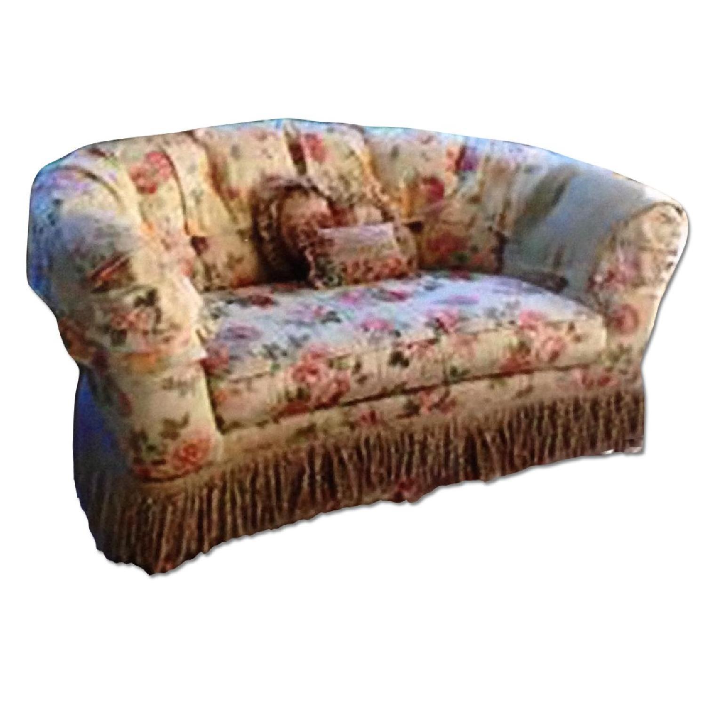 Ethan Allen Floral Upholstered Love Seats - image-0