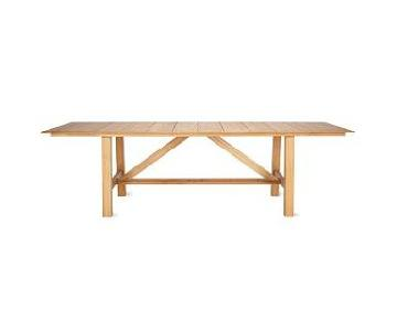 Design Within Reach Alden Collection Teak Outdoor Dining Table