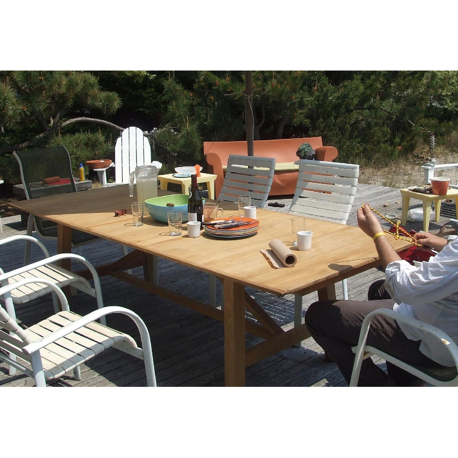 Design Within Reach Alden Collection Teak Outdoor Dining Table - image-1