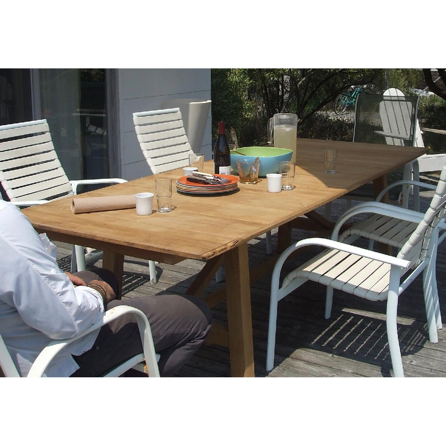 Design Within Reach Alden Collection Teak Outdoor Dining Table - image-2