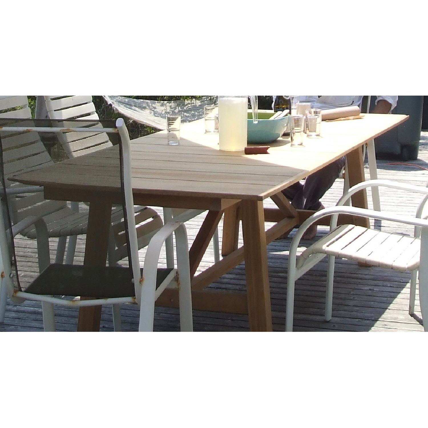 Design Within Reach Alden Collection Teak Outdoor Dining Table - image-3