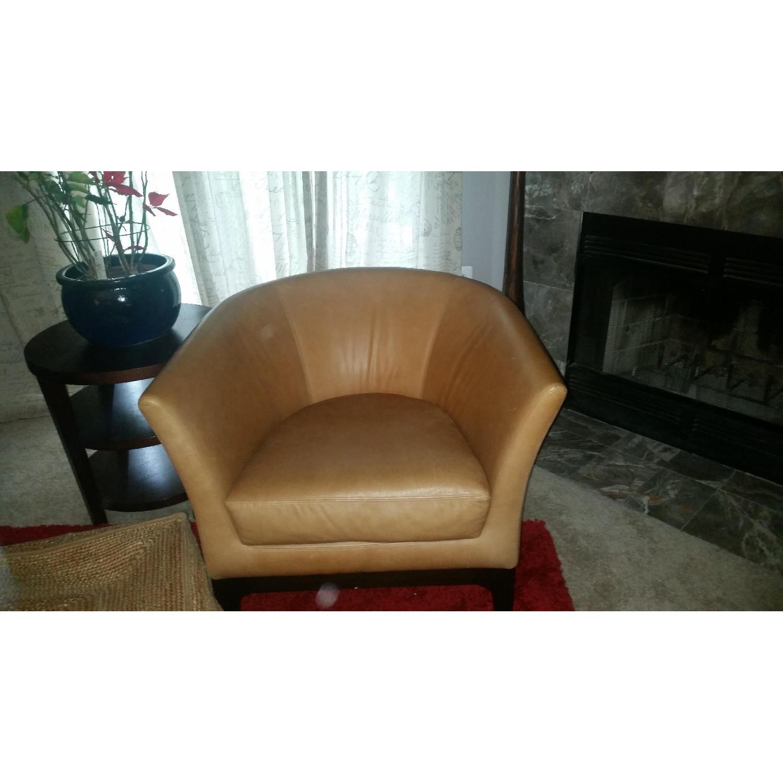 West Elm Tulip Chair in Honey - image-1