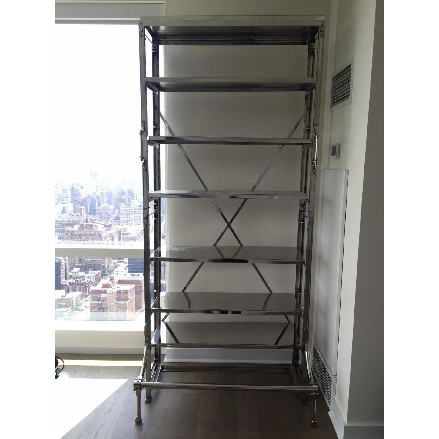 Restoration Hardware French Library Single Shelving in Polished Stainless Steel - image-1