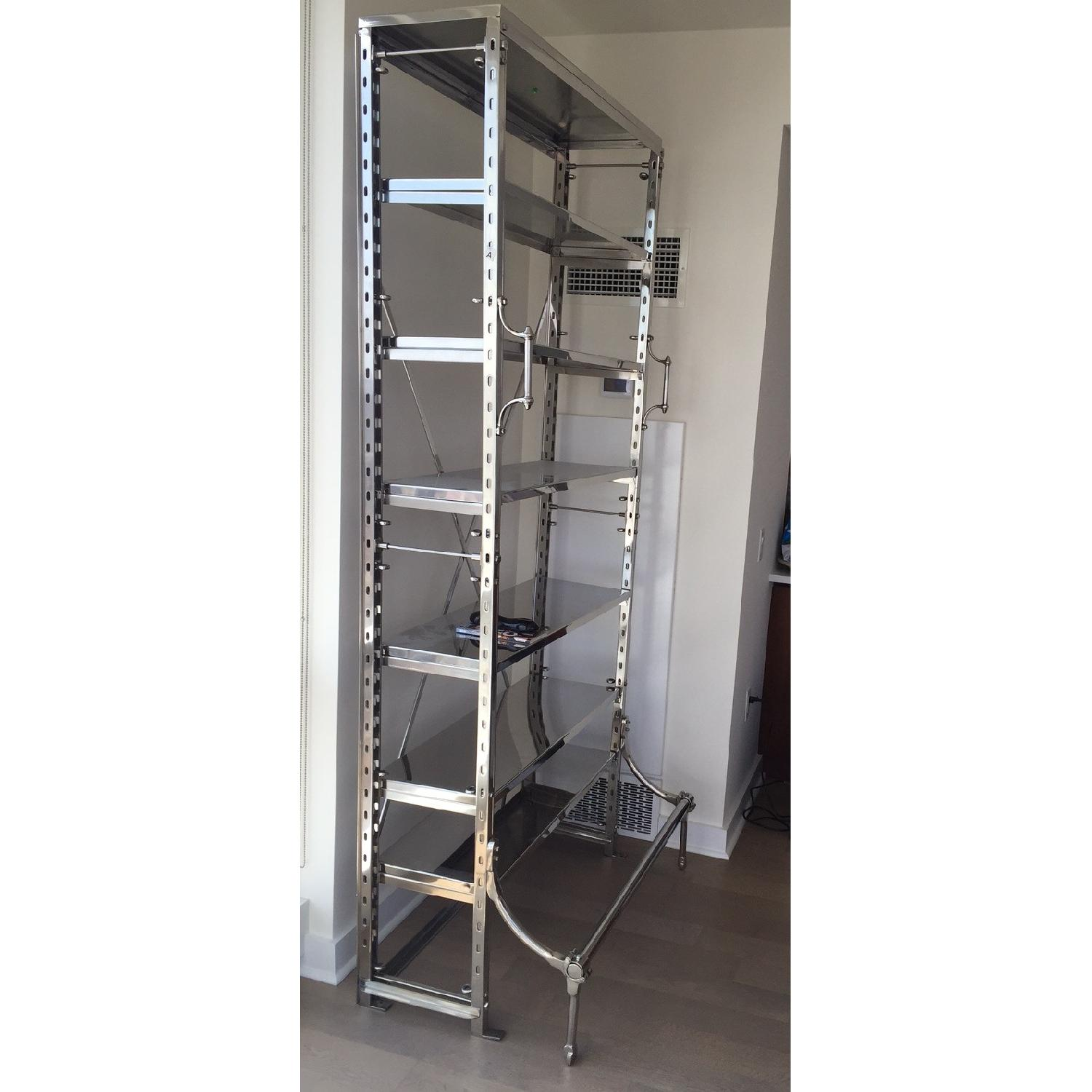 Restoration Hardware French Library Single Shelving in Polished Stainless Steel - image-2