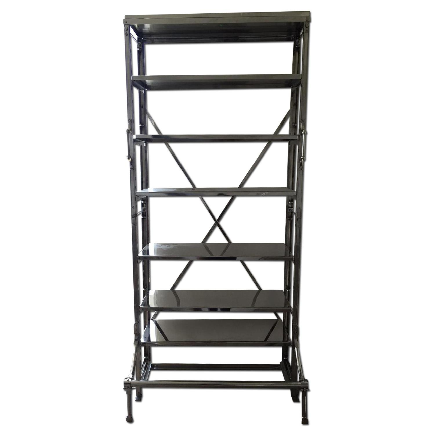 Restoration Hardware French Library Single Shelving in Polished Stainless Steel - image-0