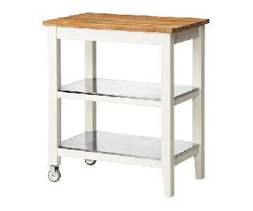 Ikea Stenstorp Butcher Block Kitchen Trolley