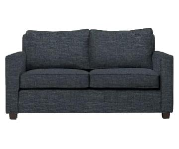 West Elm Henry Basic Twin Sleeper Sofa in Heathered Tweed