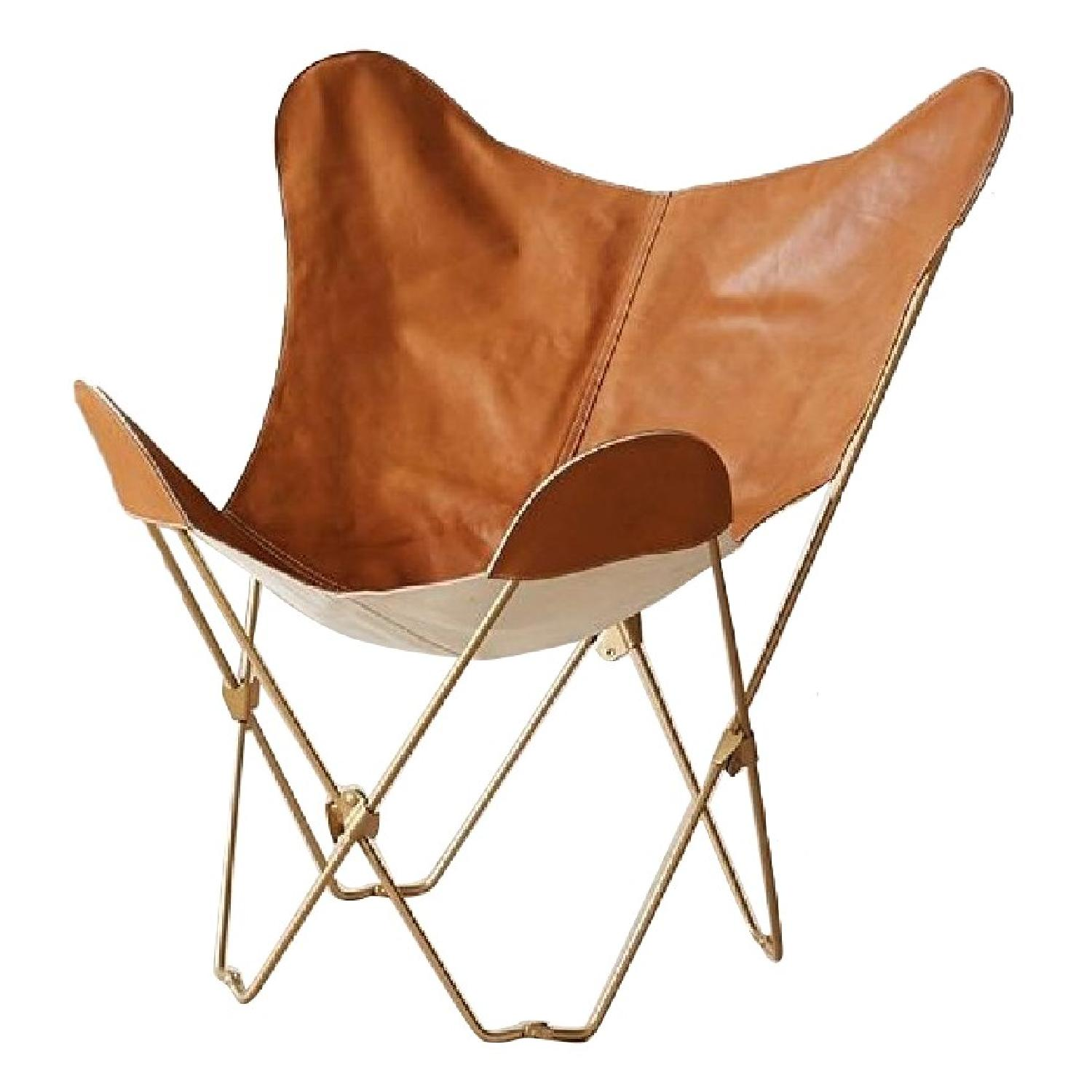 khemchand vast hide butterfly chair cargo