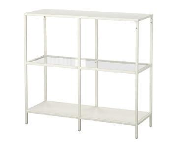 Ikea Vittsjo Metal & Glass Shelving Unit