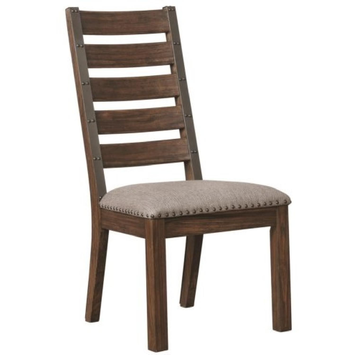 Industrial Chic Dining Chair W Nailhead Accent Aptdeco