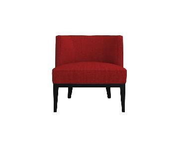 Crate & Barrel Luxe Crimson Grayson Chairs