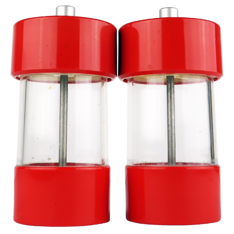 Vintage Red WM Bounds LTD Salt & Pepper Grinders
