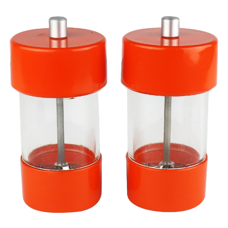Vintage Orange WM Bounds LTD Salt & Pepper Grinders