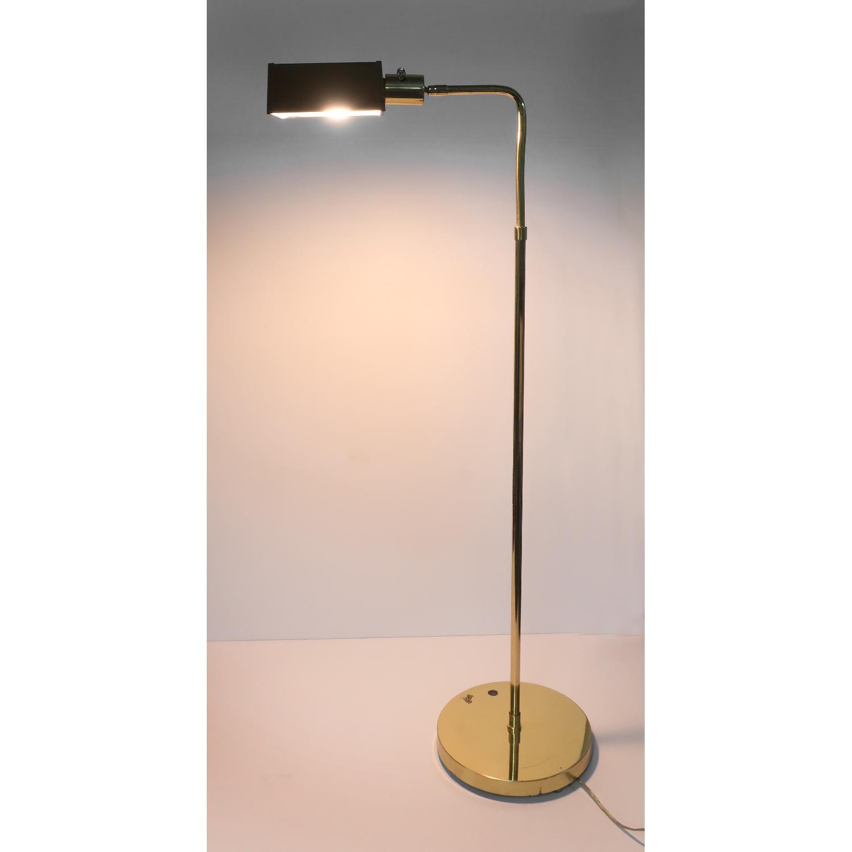 Image of: Vintage Brass Pharmacy Floor Lamp Aptdeco