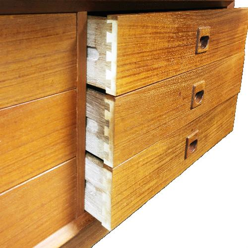 Used Erik Brouer for Brouer Mobelfabrik Danish Teak Wall Unit for sale on AptDeco