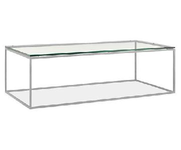 Room & Board Tyne Glass Coffee Table