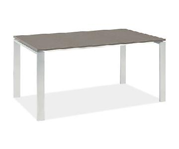 Room & Board Rand Table in Stainless Steel
