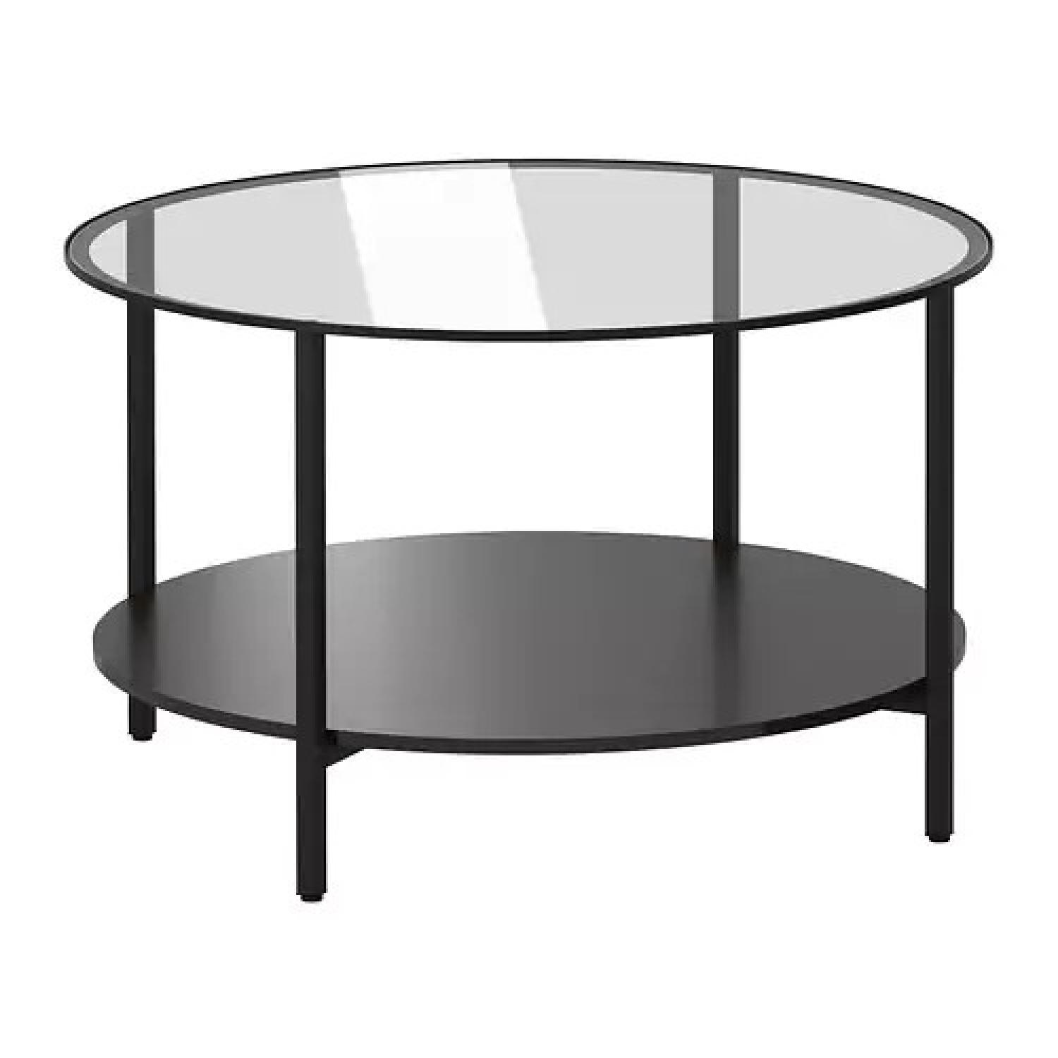 Ikea Vittsjo Glass Steel Coffee Table AptDeco