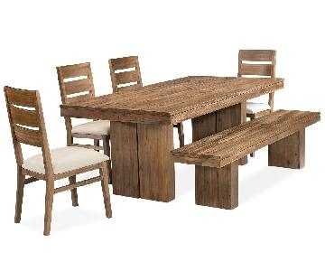 Macy's Dining Table w/ 1 Bench + 4 Chairs